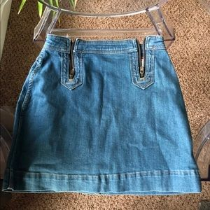 Anthropologie Pilcro Denim Mini Skirt
